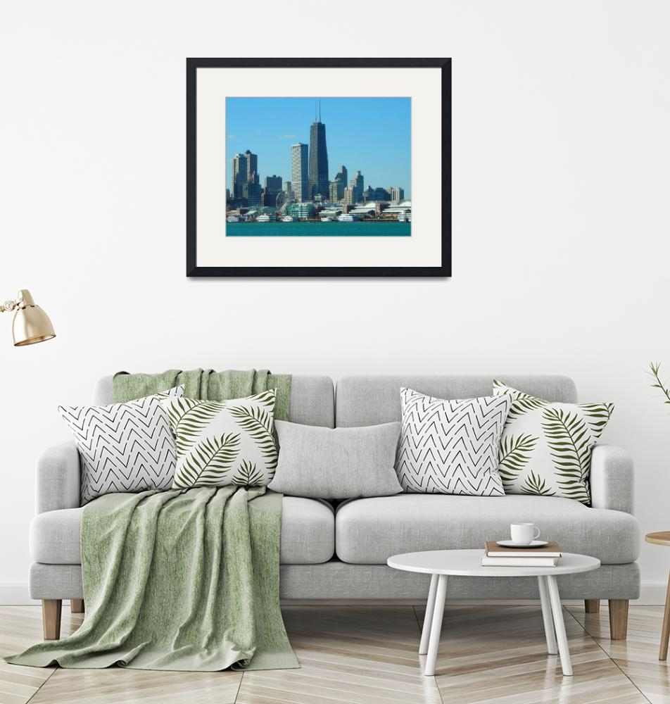 """""""Chicago Skyline and Navy Pier"""" (2006) by LisaAndres"""