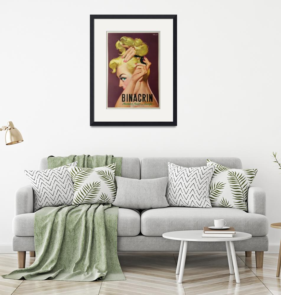 """""""Binacrin Shampoo by Mosca Vintage Poster""""  by FineArtClassics"""