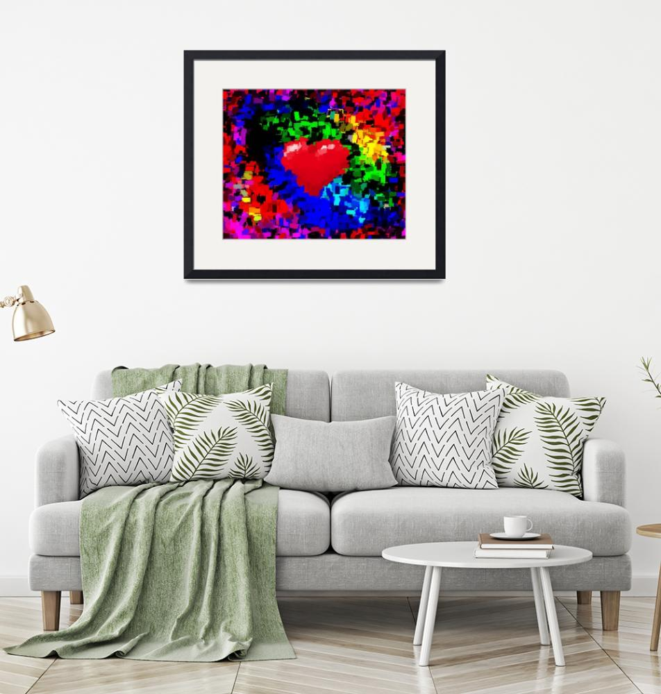 """""""Big Hearted Valentine Abstract II""""  (2014) by TheNorthernTerritory"""