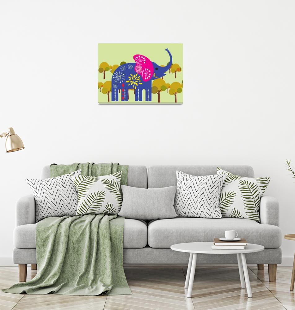 """""""A decorated elephant""""  by Design4uStudio"""