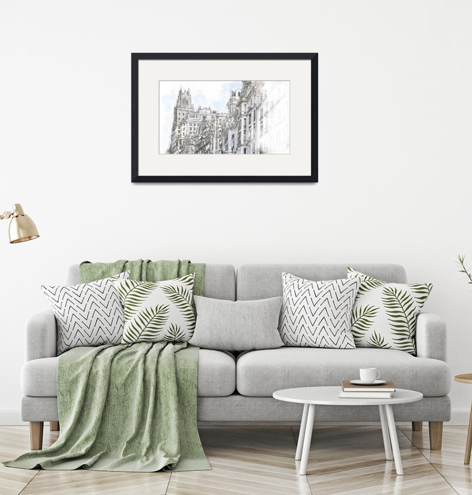 """""""Elegant Watercolor Collection Framed Print""""  by buddakats1"""