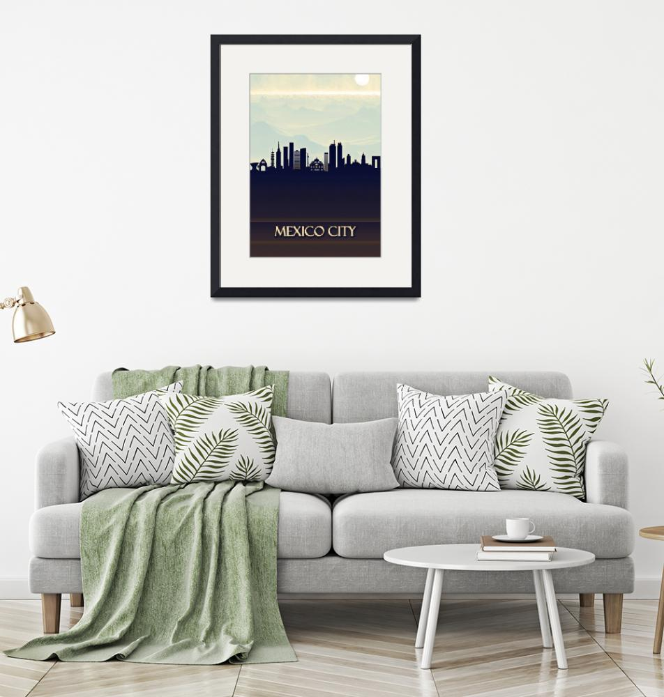 """""""Mexico City Skyline""""  by Towseef"""