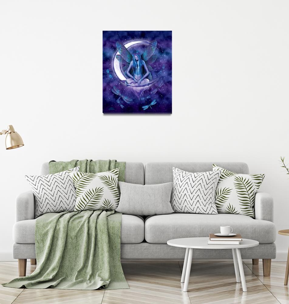 """Dragonfly Moon Fairy""  by michaelmcgloin"