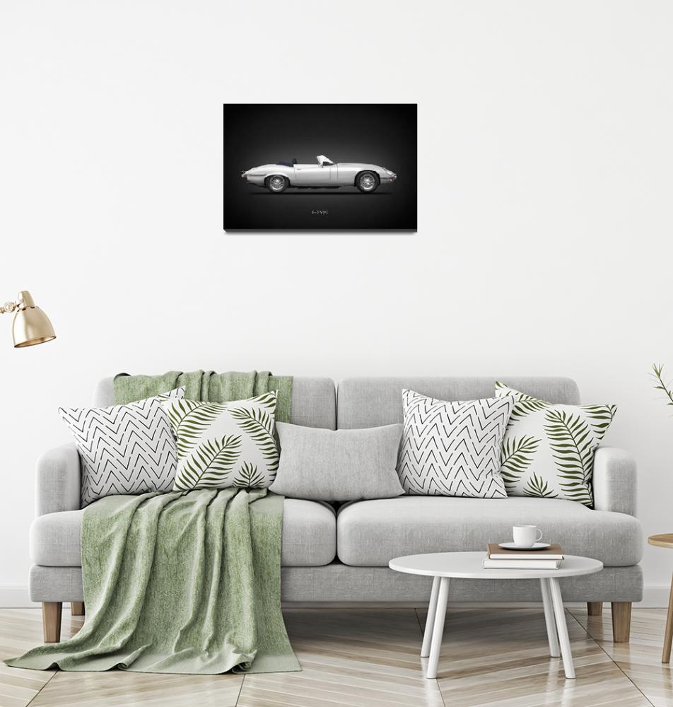"""""""The E-Type Roadster""""  by mark-rogan"""