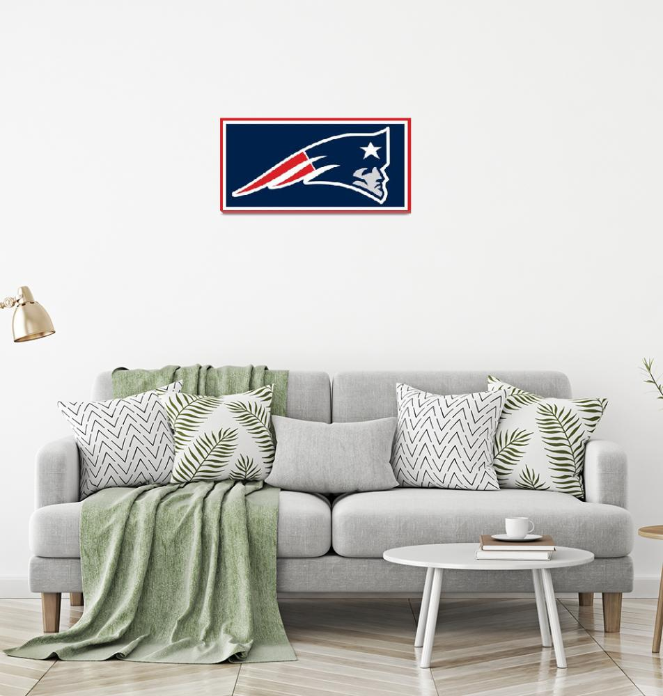 """New England Patriots""  (2015) by RubinoFineArt"