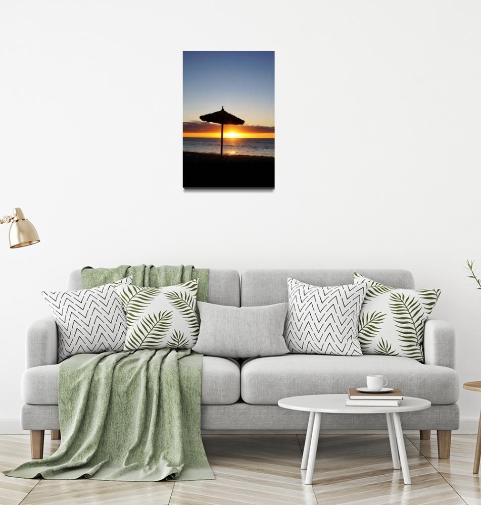 """Tropical Island Sunset""  (2014) by brianraggatt"
