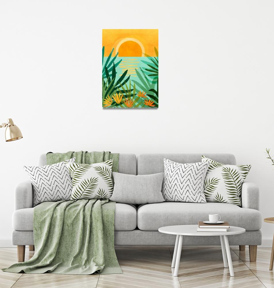 """""""Peaceful Tropics""""  (2020) by moderntropical"""