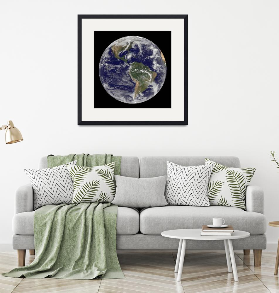 """Full Earth showing Hurricane Paloma.""  by stocktrekimages"
