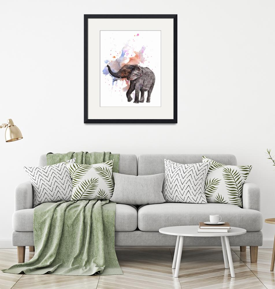"""Dancing Elephant""  (2013) by idillard"