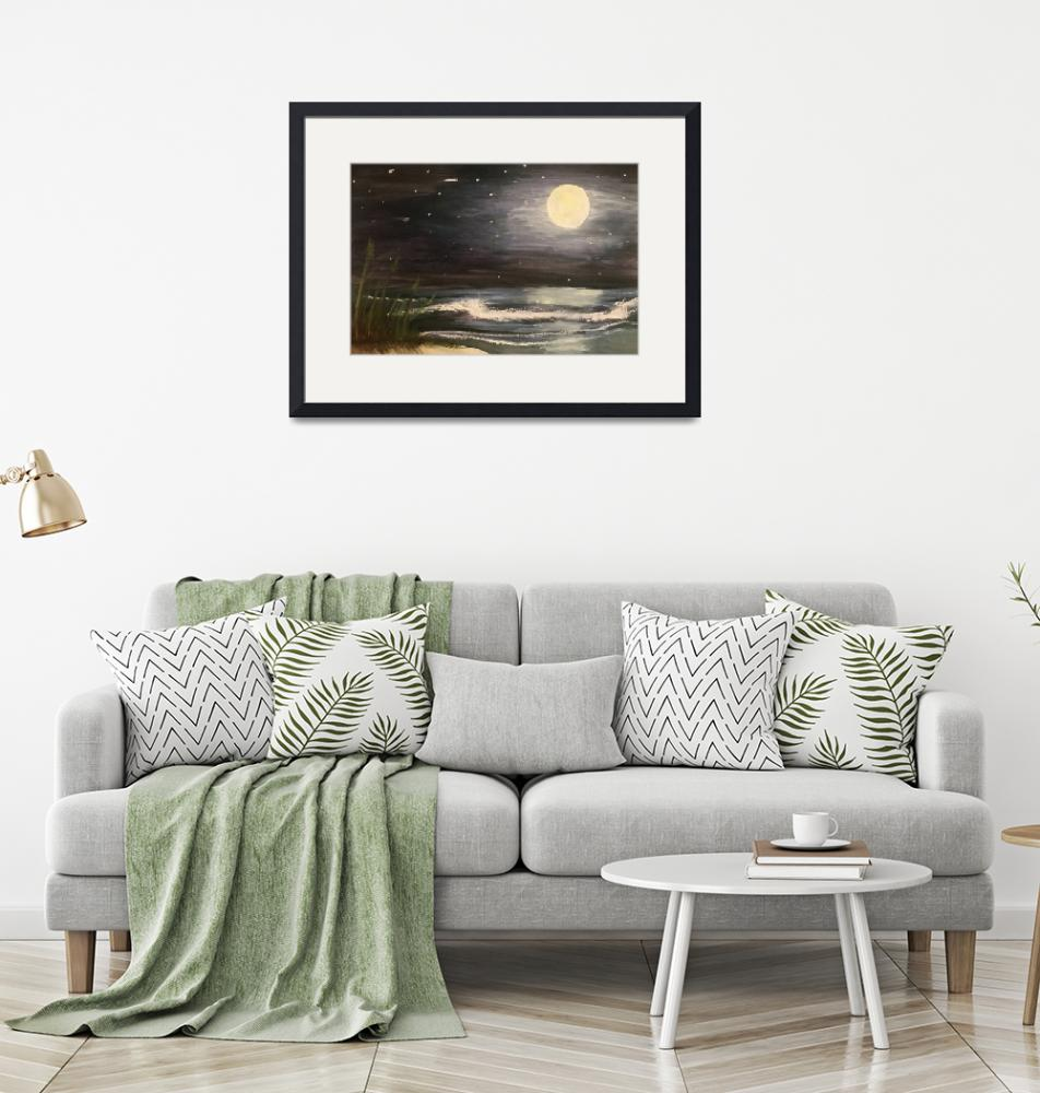 """Moonlit Seascape""  (2019) by ladytravel"