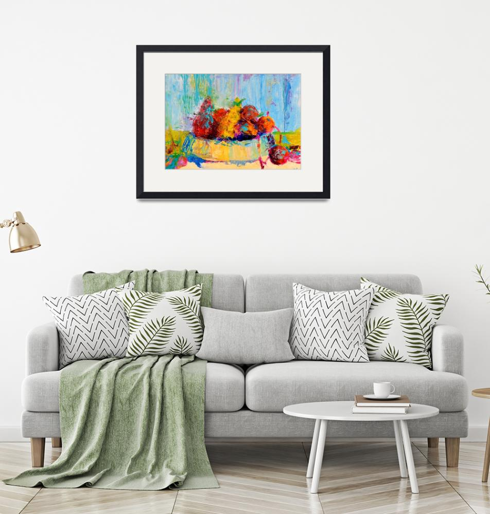 """""""Still Life Food Fruit Print Vegetables Kitchen Art""""  (2016) by Maggy"""