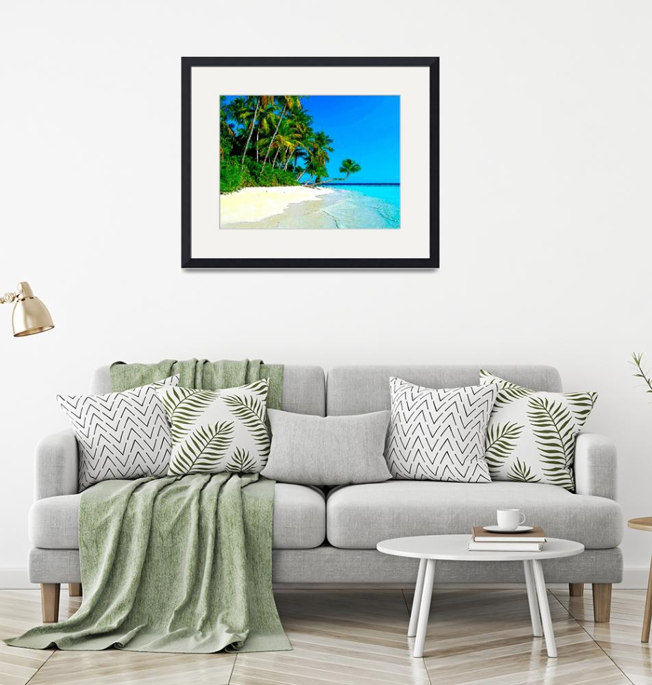 """Punta Cana Tropical Shore""  (2009) by Caribbean-Digital-Art"