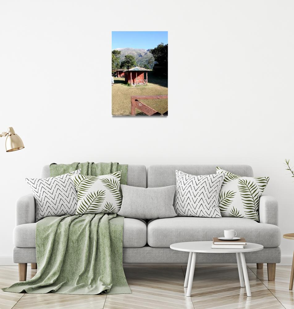 """Cabins near the base of the Santa Ana volcano in e""  by MarilynsArt"