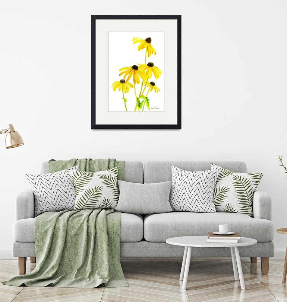"""Yellow Black Eyed Susans"" (2015) by Pacific-NW-Watercolors"