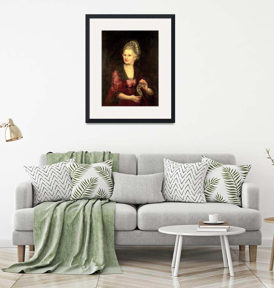 """""""Anna Maria Mozart, nee Pertl, mother of Wolfgang A""""  by fineartmasters"""