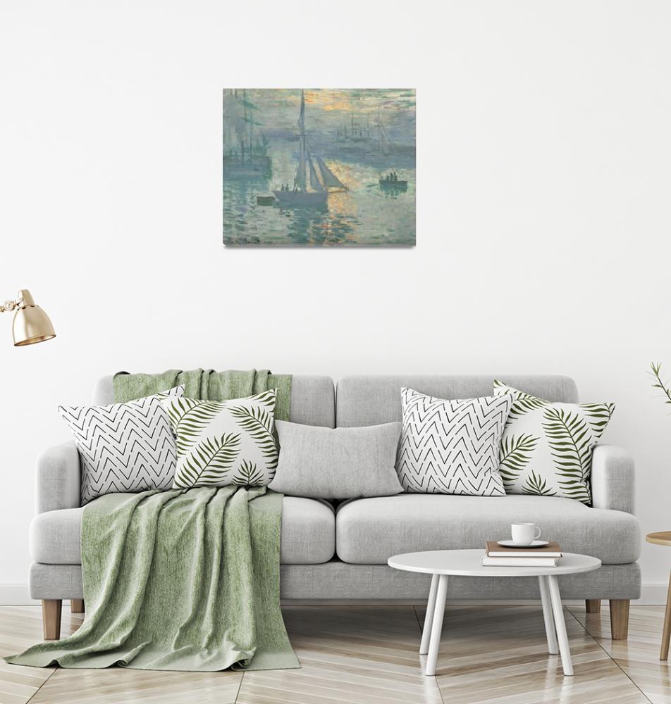 """Sunrise by Claude Monet""  by FineArtClassics"