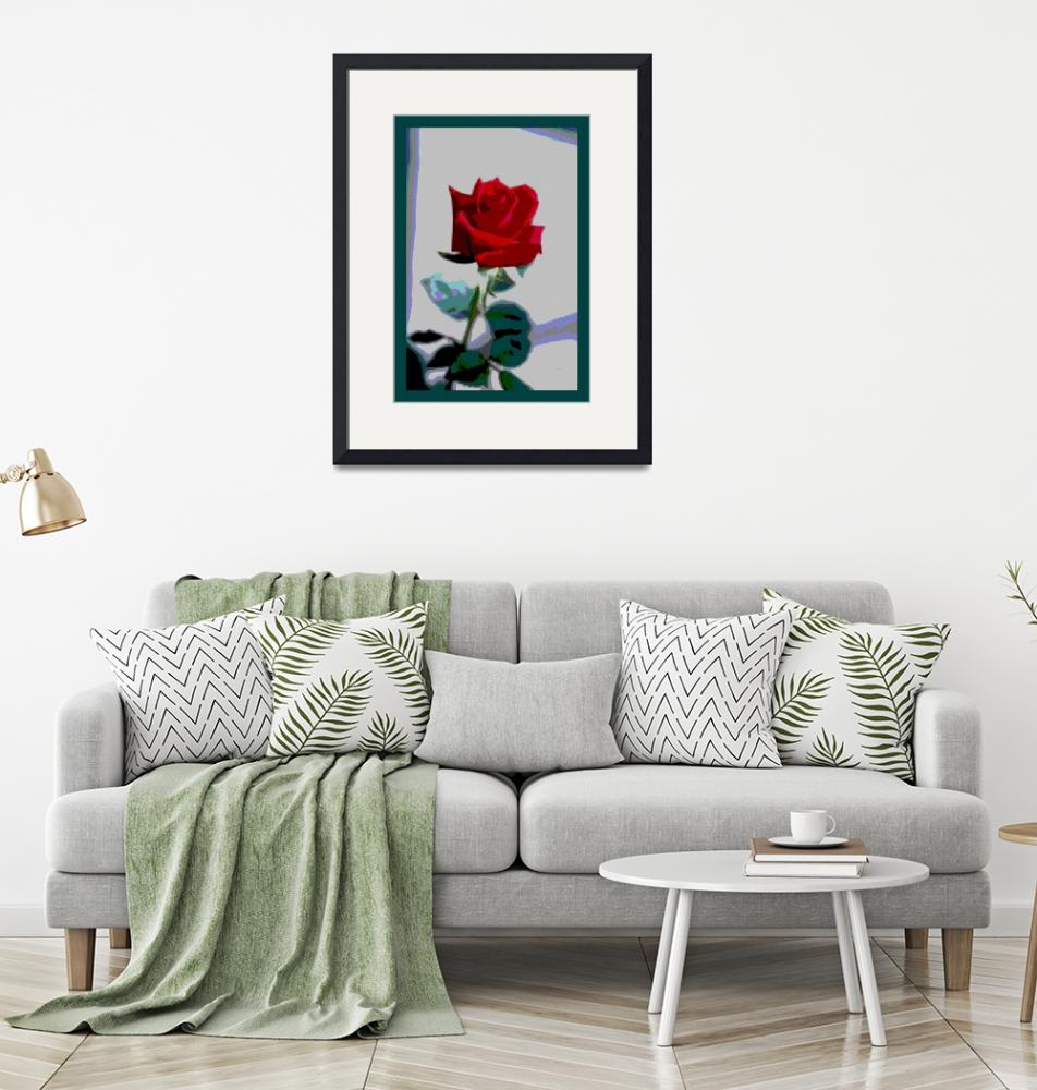 """""""Red Rose Enhanced small border""""  (2013) by TheNorthernTerritory"""