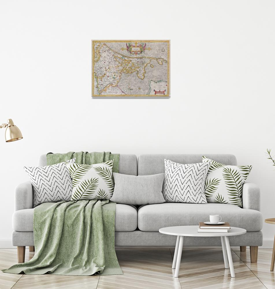 """Map of Holland (Netherlands) by Mercator""  by FineArtClassics"