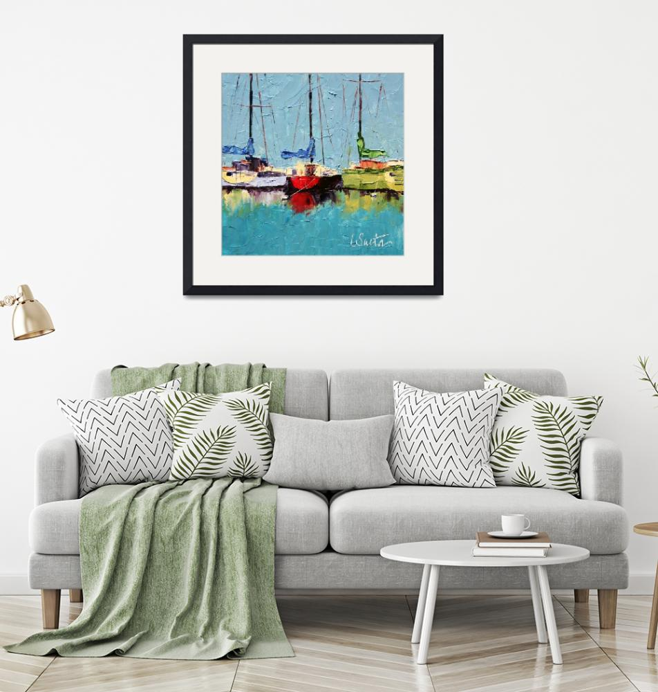 """Boats at Hvar""  (2009) by LeslieSaetaFineArt"
