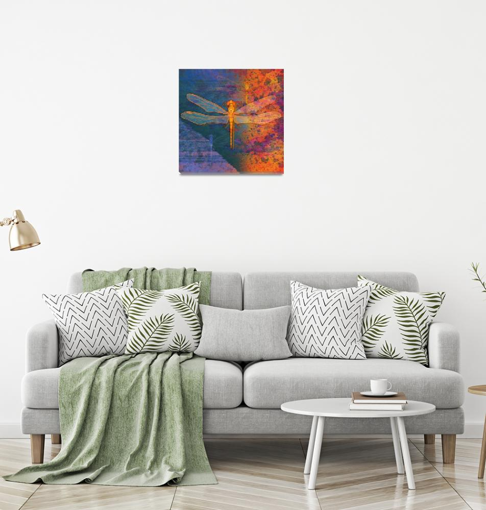 """""""Flaming Dragonfly"""" by maryostudio"""