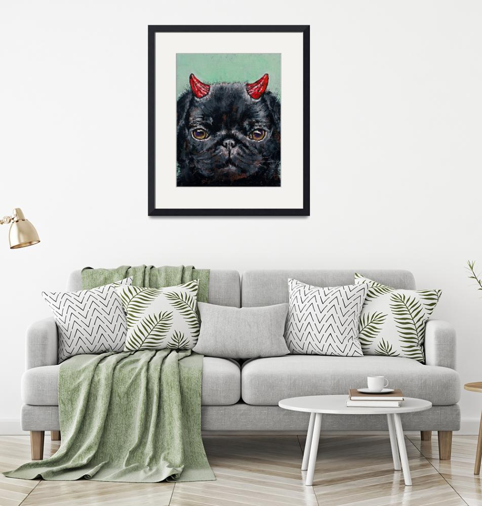 """""""Devil Pug""""  by creese"""