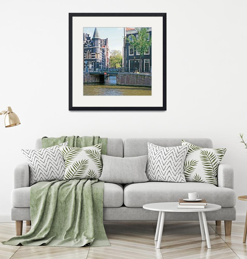 """""""35Canal Houses with Bridge, Amsterdam""""  (2007) by PriscillaTurner"""