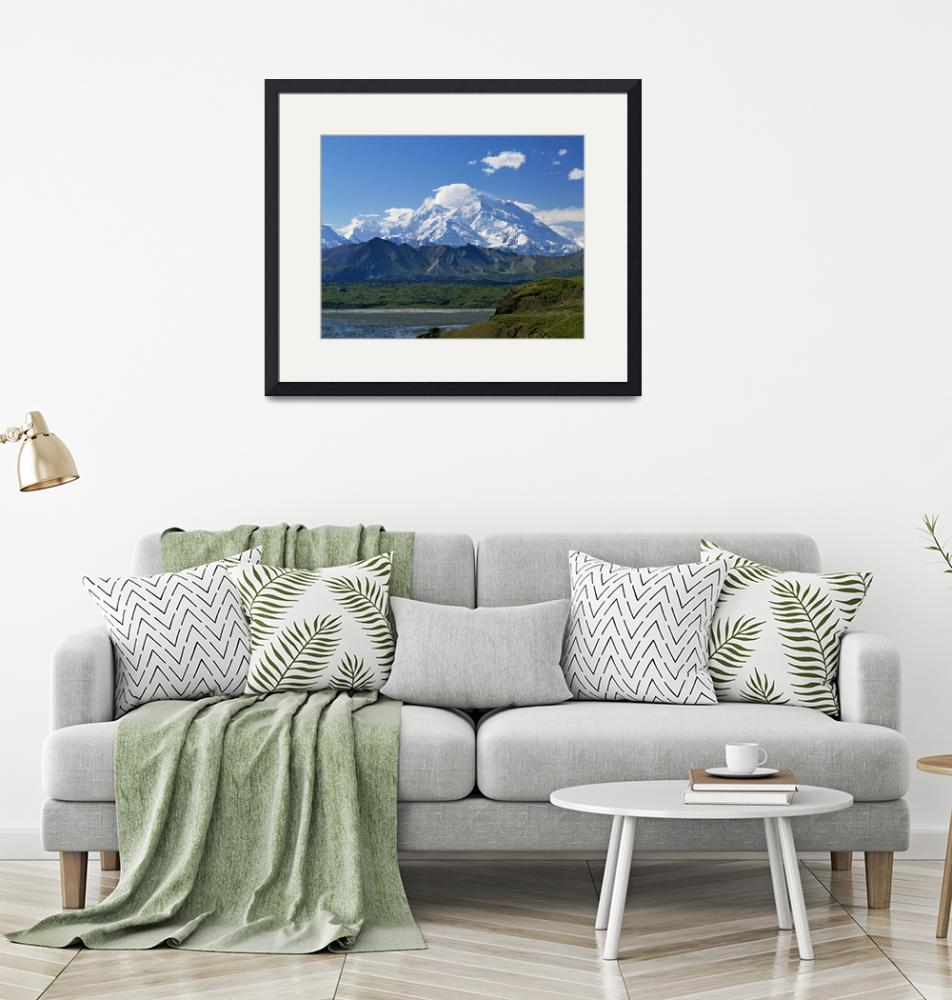"""""""Snow-covered Mount McKinley""""  by Panoramic_Images"""