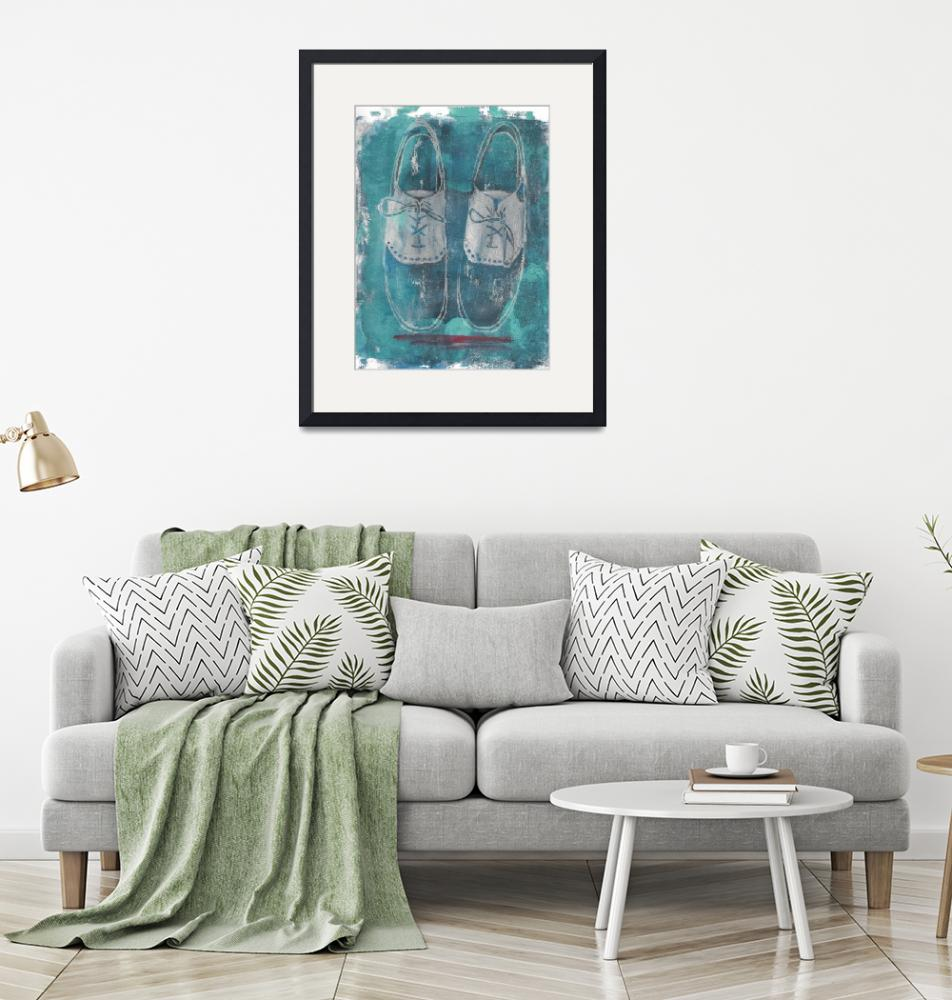 """""""Turquoise Shoes""""  (2019) by Pegeen"""