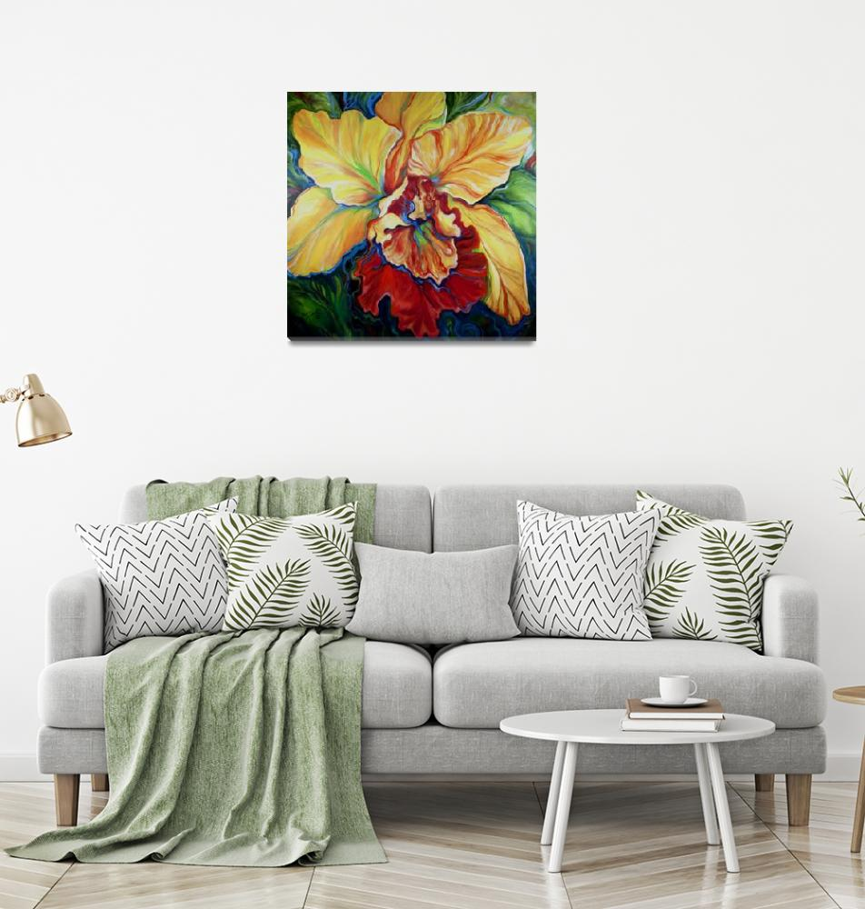"""""""TROPICAL ORCHID""""  (2013) by MBaldwinFineArt2006"""