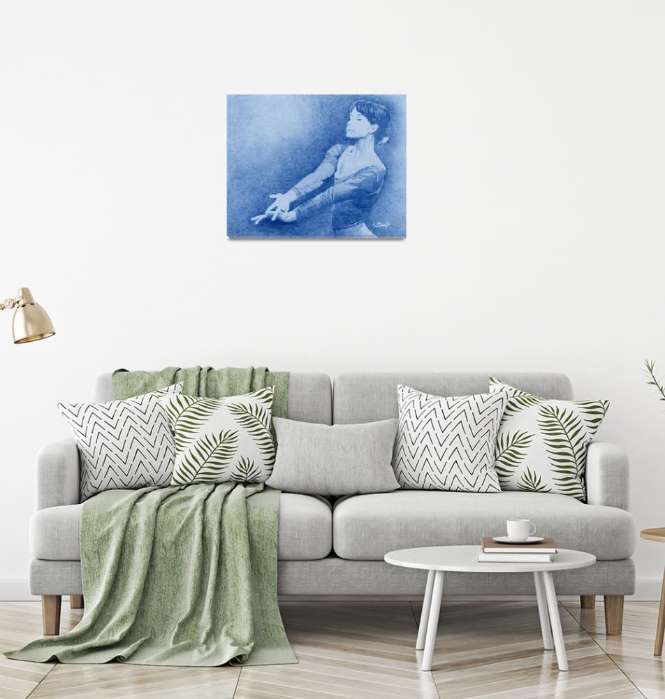"""Woman Gymnast in Blue""  by Tim"