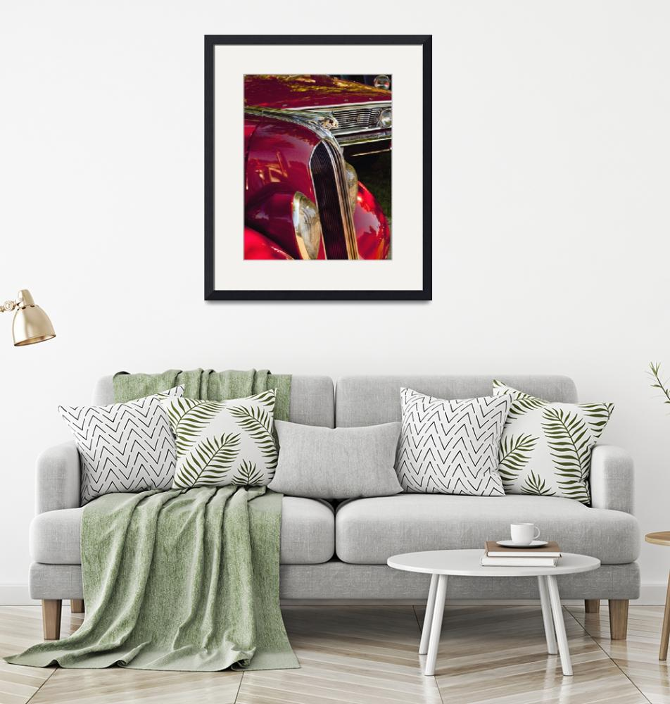 """""""1935 Chief Pontiac on Red car""""  (2012) by janesprints"""