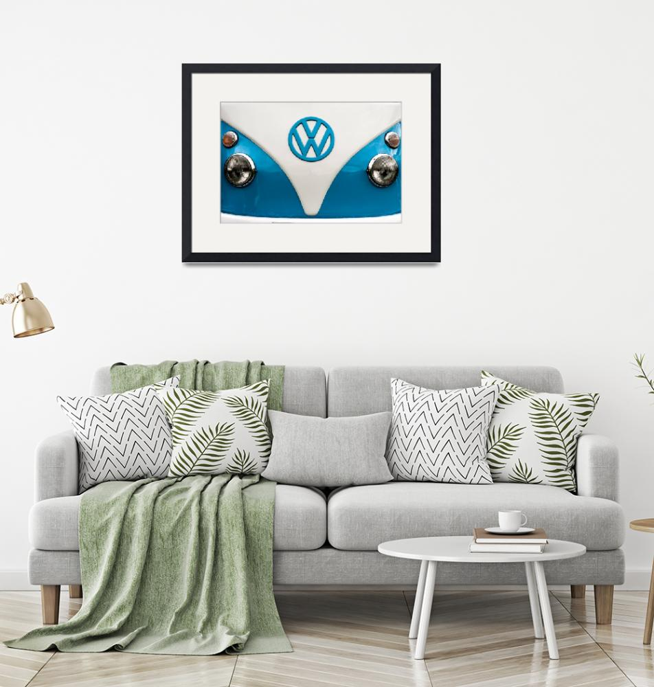 """Blue VW campervan""  (2012) by maxblack"