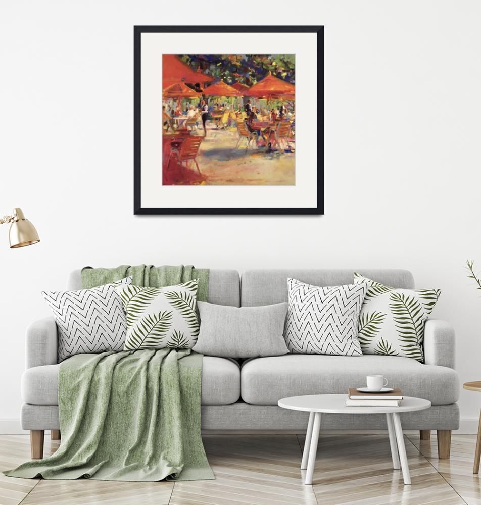 """""""Le Cafe du Jardin by Peter Graham""""  by fineartmasters"""