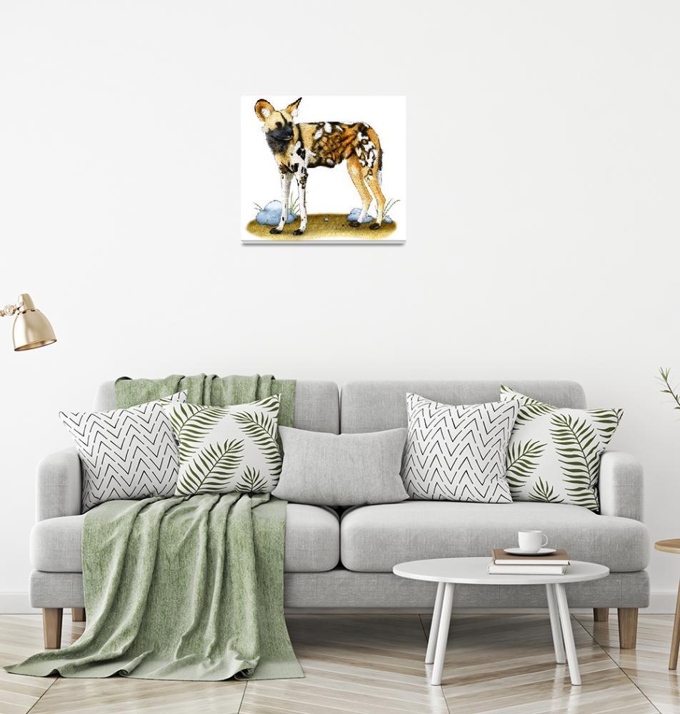 """African Wild Dog""  (2009) by inkart"