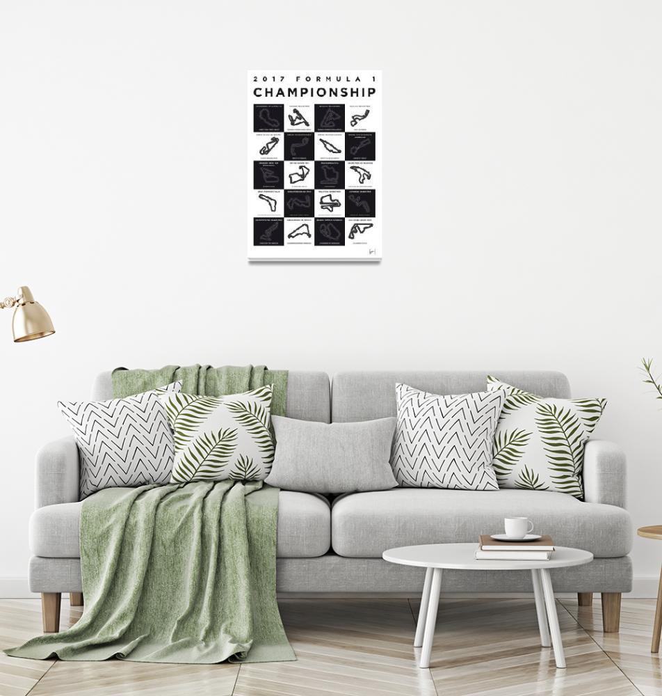 """My F1 SEASON 2017 Race Track Minimal Poster""  by Chungkong"