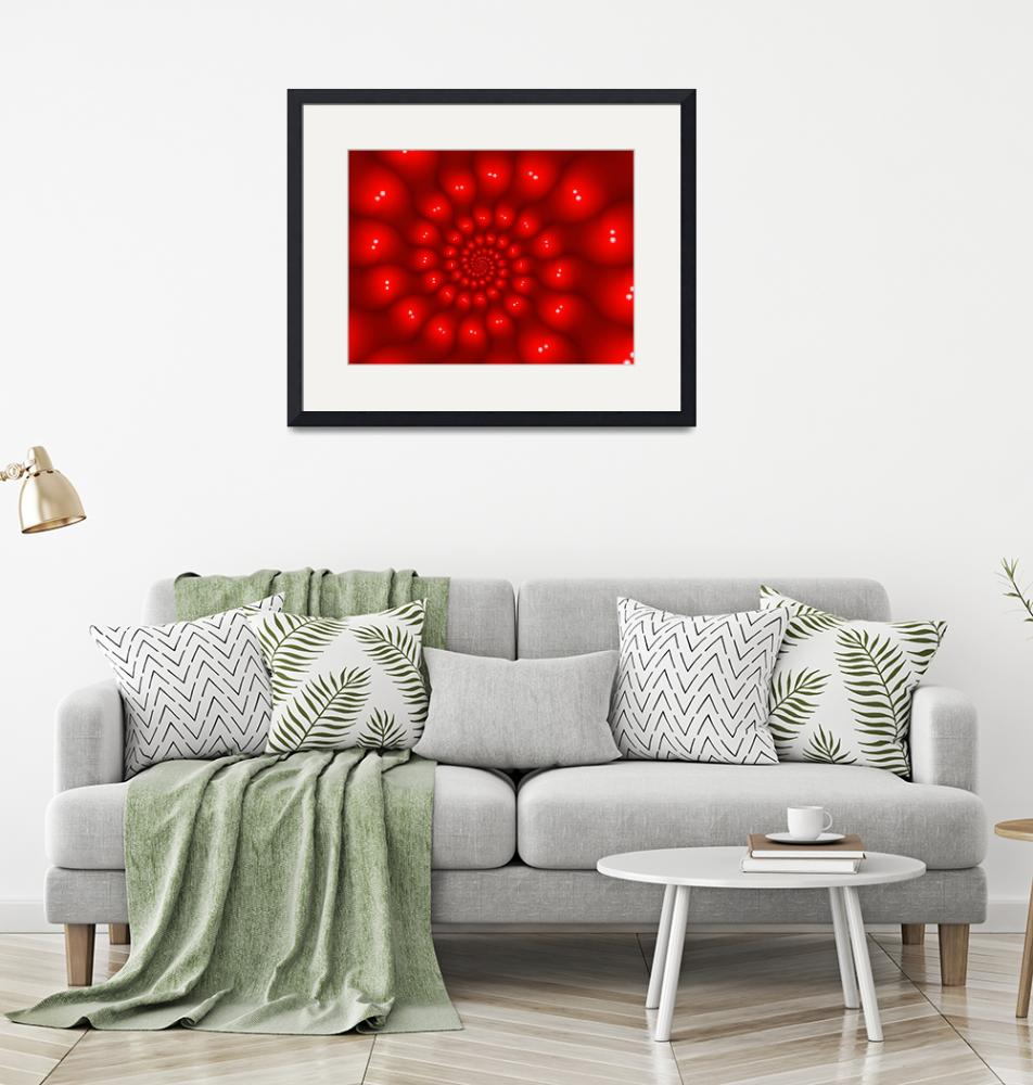 """""""Glossy Red Spiral Fractal""""  (2013) by kittybitty"""