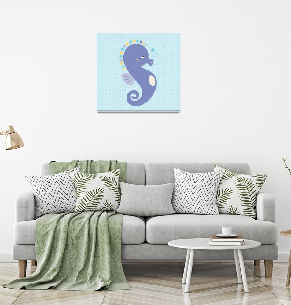 """""""Seahorse (blue)"""" by littlebubbies"""