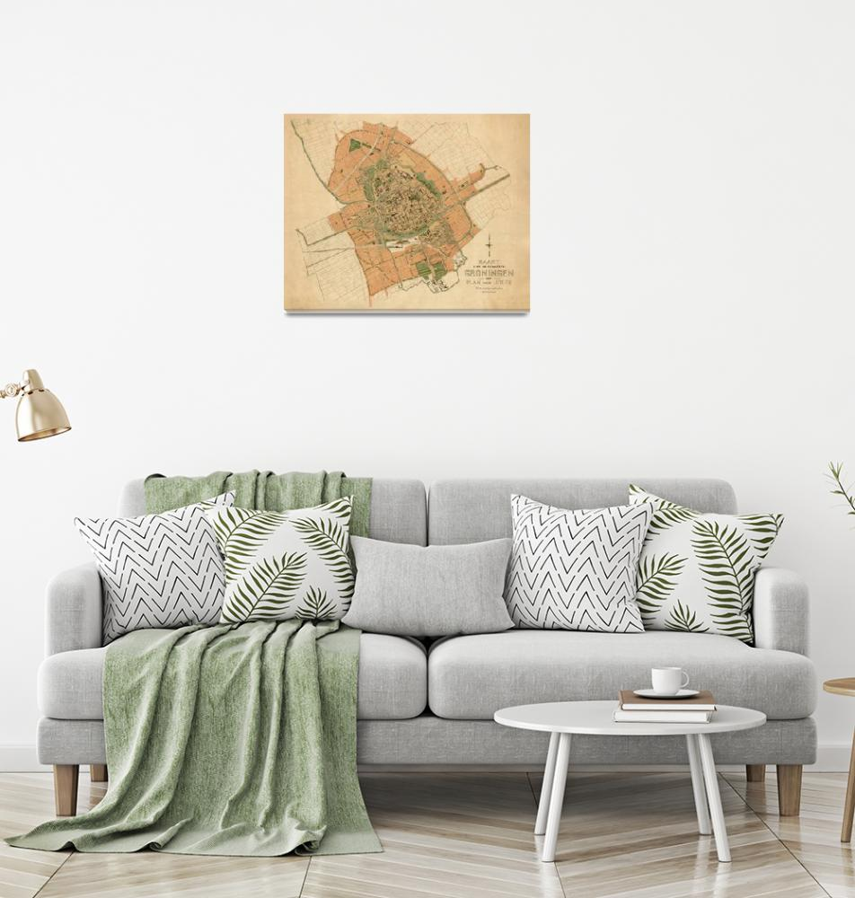 """Vintage Groningen Netherlands Map (1903)""  by Alleycatshirts"
