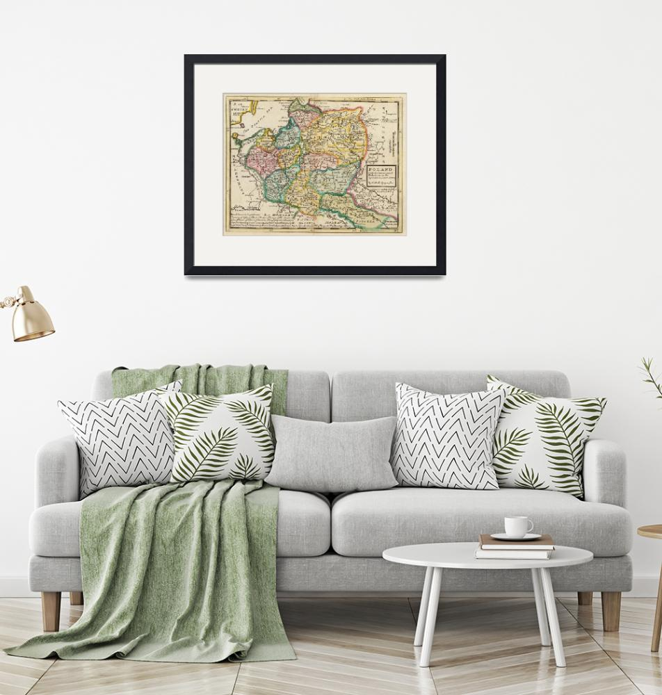 """Vintage Map of Poland (1736)""  by Alleycatshirts"
