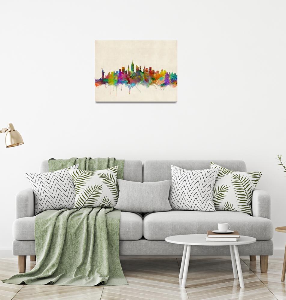 """New York City Skyline""  (2013) by ModernArtPrints"