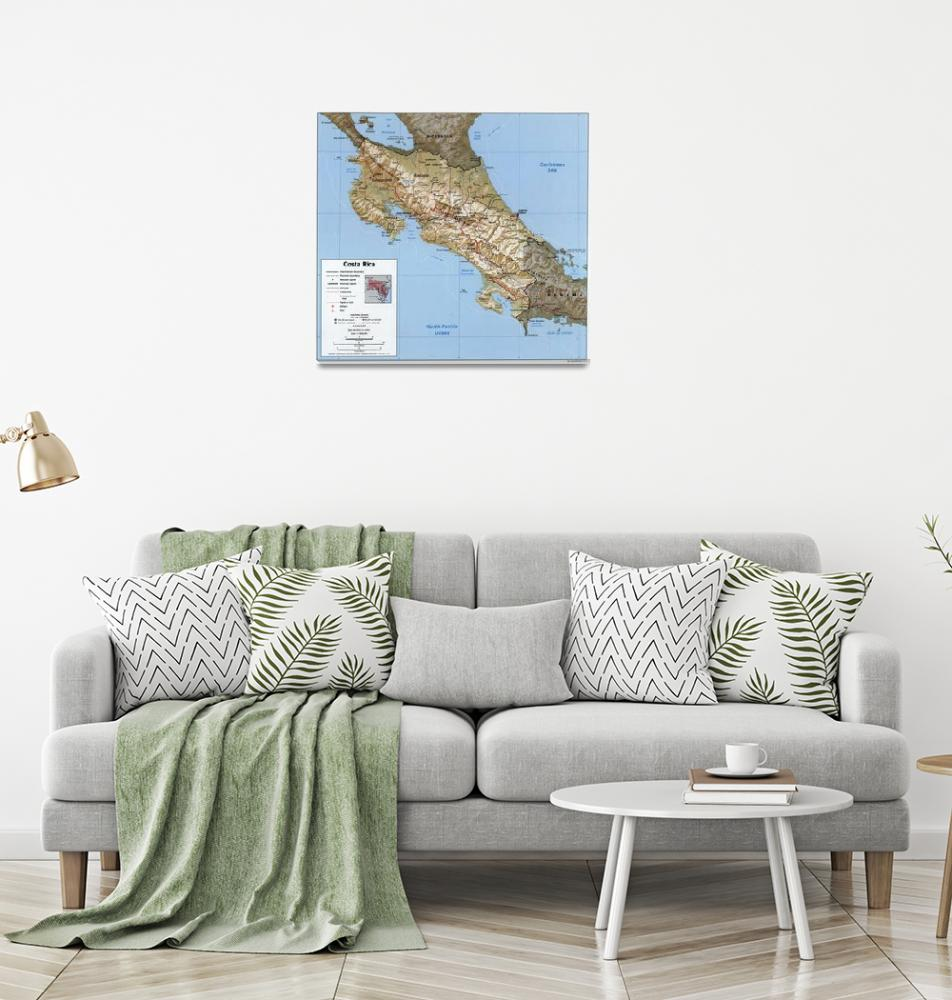 """""""Costa Rica Map (1991)""""  by Alleycatshirts"""
