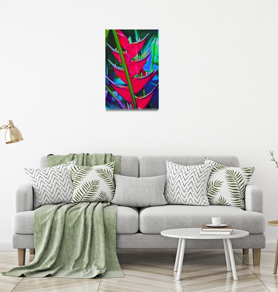 """Heliconia Tropical Flower""  (2011) by KsWorldArt"