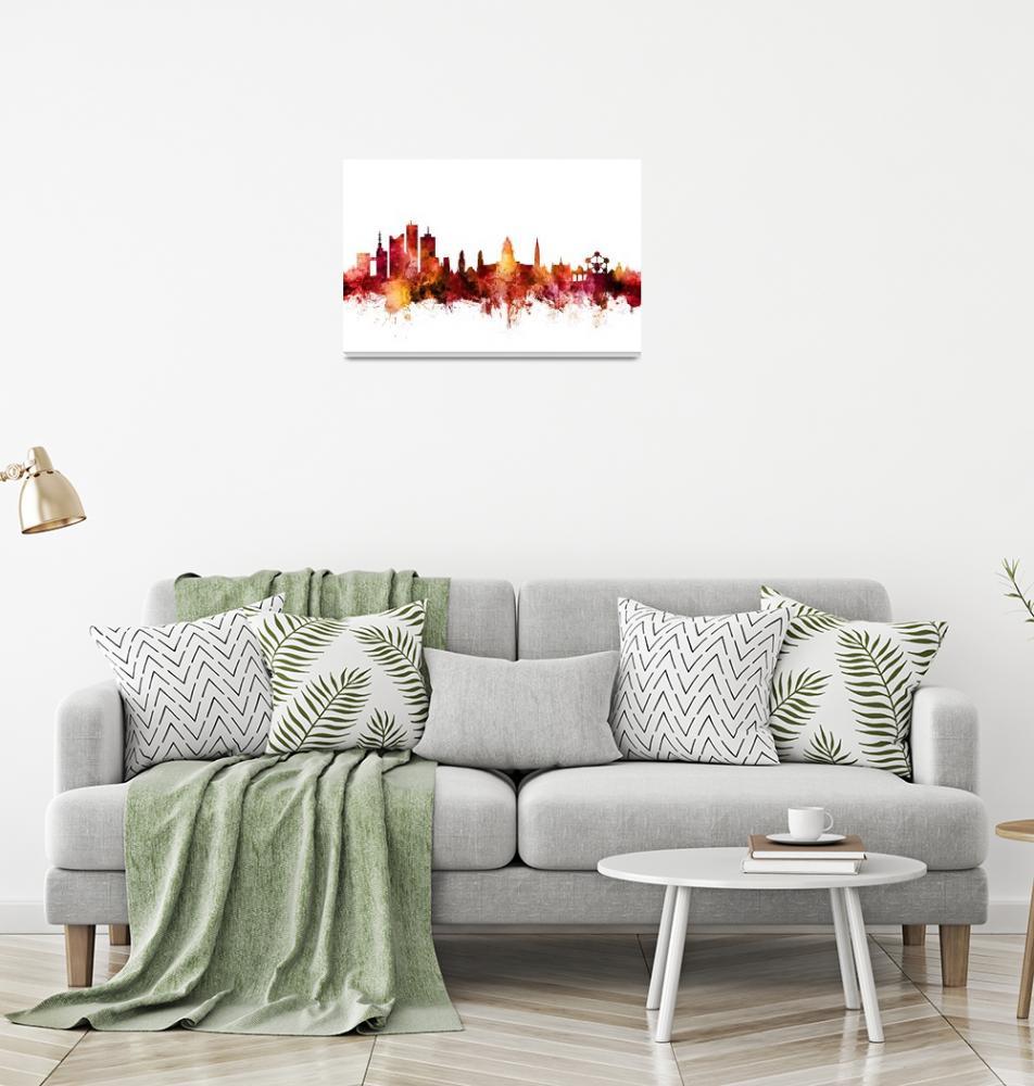 """""""Brussels Belgium Skyline""""  (2018) by ModernArtPrints"""