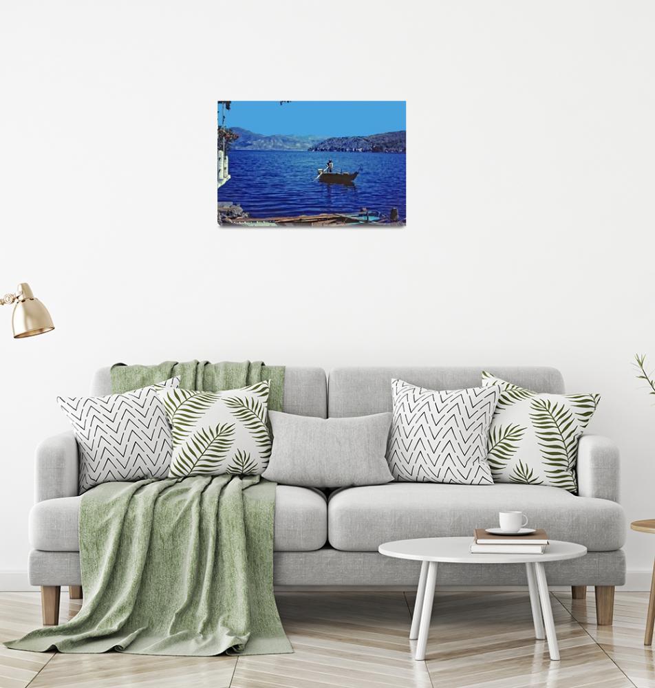 """Fishing, Summer 1961, N. Greece""  (1961) by PriscillaTurner"