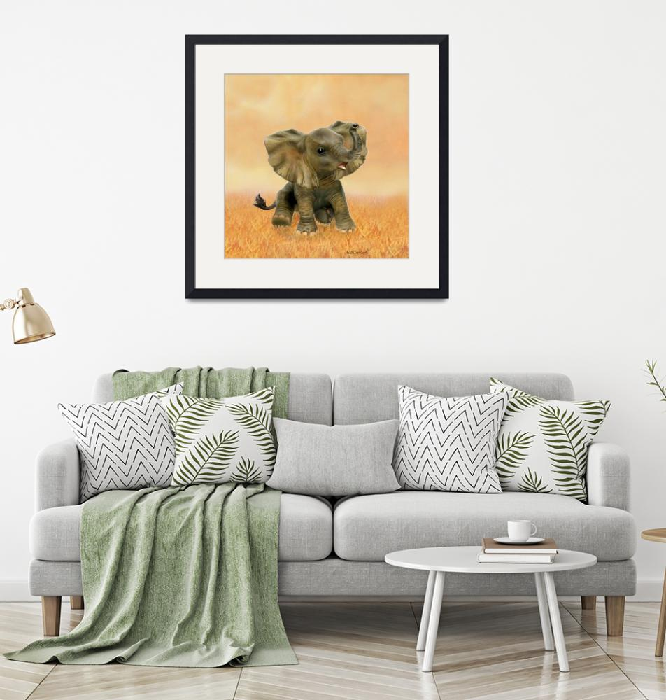 """""""BEAUTIFUL AFRICAN BABY ELEPHANT""""  (2016) by HolbrookArt"""