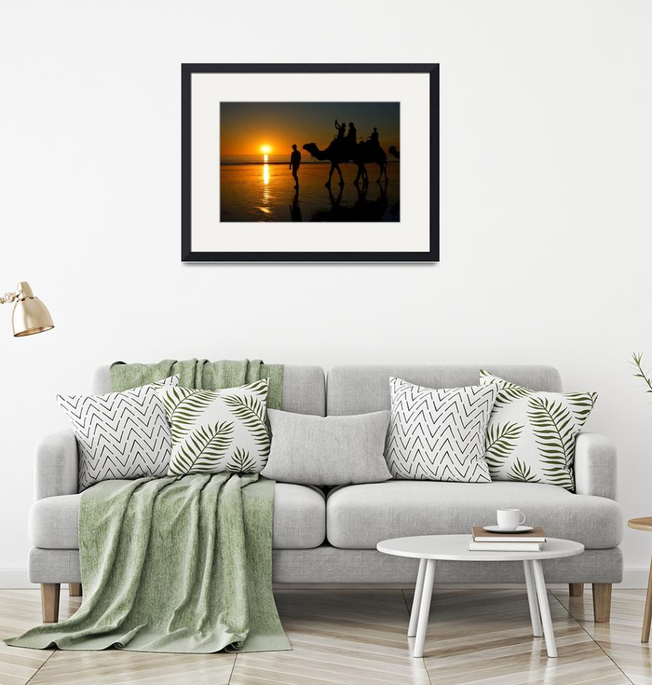 """""""Camels on Cable Beach 1""""  (2014) by StuartRow"""