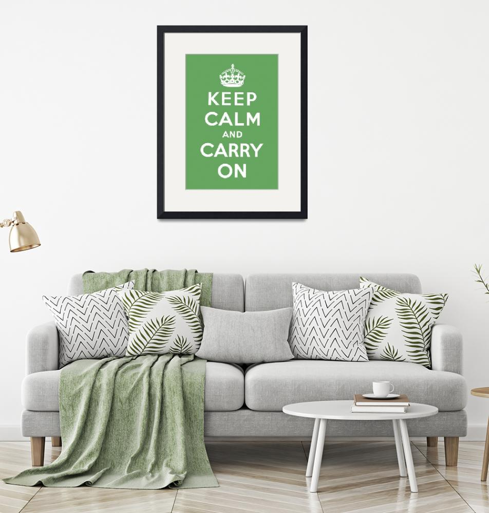 """""""Green Keep Calm And Carry On 8""""  by oldies"""