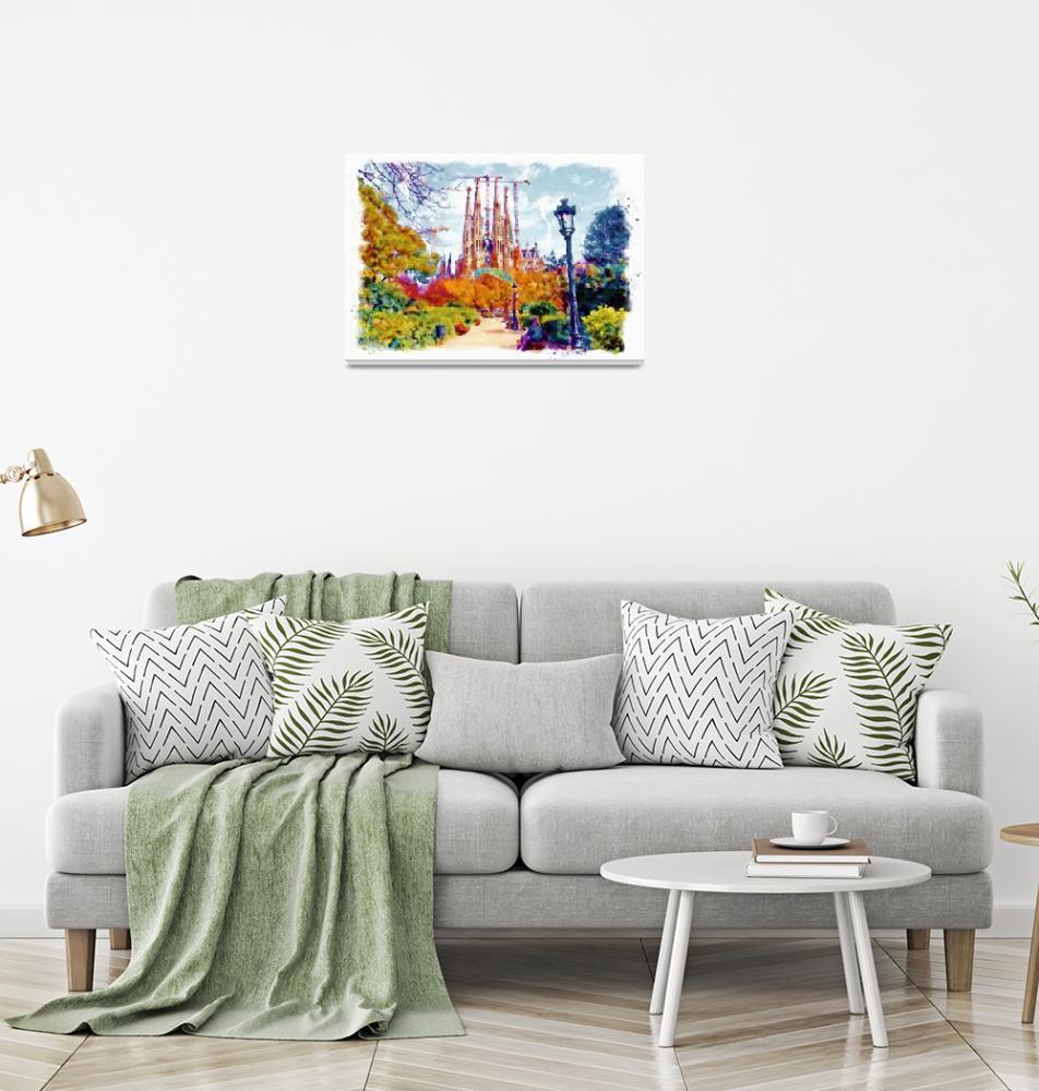 """""""La Sagrada Familia - Park View""""  (2016) by MarianVoicu"""