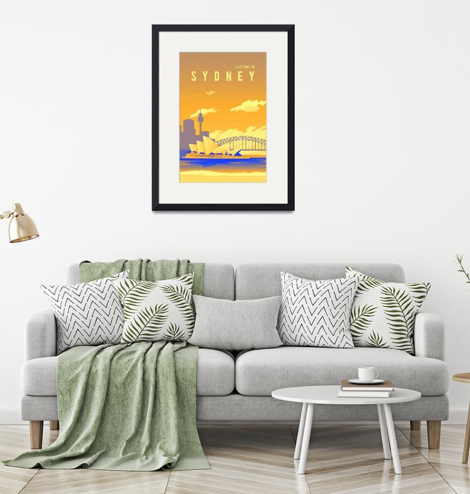 """""""Travel Poster of Sydney 172"""" by Arpina"""