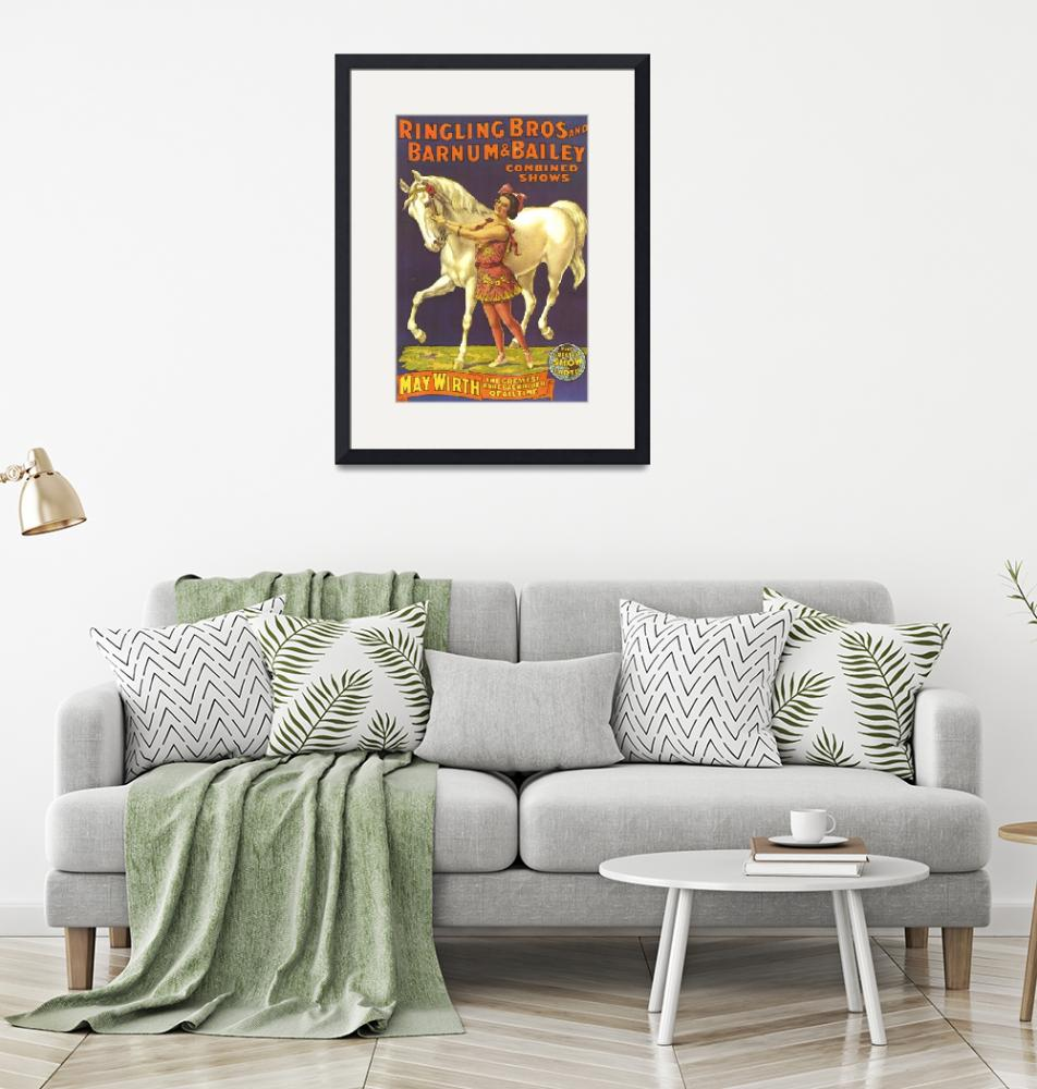 """""""Ringling Bros. and Barnum & Bailey Vintage Poster""""  by FineArtClassics"""